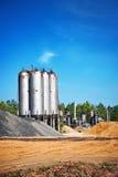 El tanque del cemento Foto de archivo