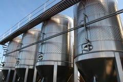 El tanque del fermentaion de la cerveza Imágenes de archivo libres de regalías