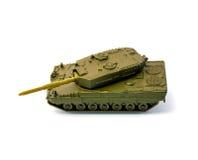 El tanque del juguete aislado en el fondo blanco Fotos de archivo