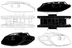 El tanque del vector 04 de la Primera Guerra Mundial Foto de archivo libre de regalías
