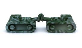El tanque dos con el nudo en el cañón Imagen de archivo libre de regalías