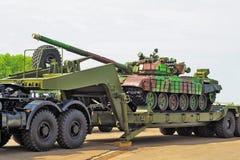 El tanque en el acoplado Fotos de archivo