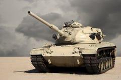 El tanque en el desierto Imagen de archivo libre de regalías