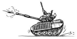 El tanque en estilo de los tebeos Imagen de archivo