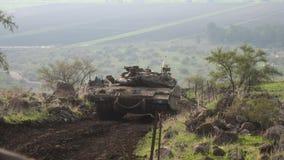 El tanque en Golan Heights Foto de archivo libre de regalías