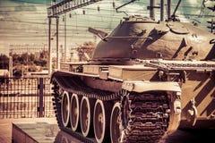 El tanque en la acción imagenes de archivo