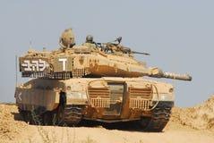 El tanque israelí de la CA - Merkava imágenes de archivo libres de regalías