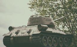 El tanque legendario T-34 Imágenes de archivo libres de regalías