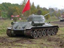 El tanque medio soviético T-34 Foto de archivo