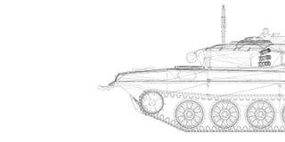 El tanque militar Fotos de archivo libres de regalías