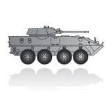 El tanque militar aislado Imagen de archivo