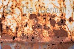 El tanque oxidado del metal del aceite Fotografía de archivo