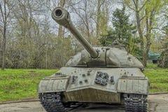 El tanque pesado IS-3 fue puesto en servicio en 1945, estaba en servicio con las tropas del ejército soviético imagenes de archivo