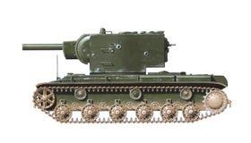 El tanque pesado KV-2 Foto de archivo libre de regalías