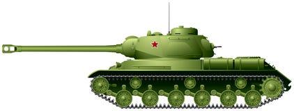 El tanque, el tanque pesado soviético IS-2 de la Segunda Guerra Mundial stock de ilustración