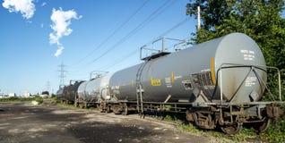 El tanque químico ferroviario imágenes de archivo libres de regalías