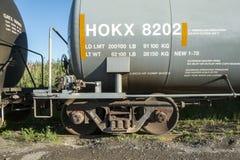 El tanque químico ferroviario Fotografía de archivo libre de regalías