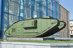 El tanque restaurado pesado antiguo de británicos Mark Male Composite Imagen de archivo