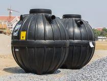 El tanque séptico prefabricado Fotos de archivo libres de regalías