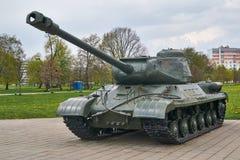 El tanque soviético is-2 Fotografía de archivo libre de regalías