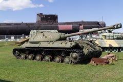 El tanque soviético de épocas de la Segunda Guerra Mundial Foto de archivo libre de regalías