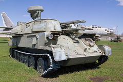 El tanque soviético de épocas de la Segunda Guerra Mundial Imágenes de archivo libres de regalías