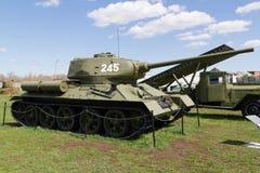 El tanque soviético de épocas de la Segunda Guerra Mundial Fotos de archivo libres de regalías