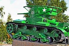 El tanque soviético de la Segunda Guerra Mundial Foto de archivo libre de regalías
