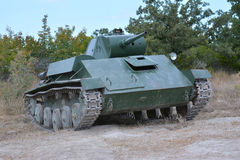 El tanque soviético de período de la Segunda Guerra Mundial Imagen de archivo