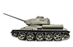 El tanque soviético legendario T-34-85 en la guerra en la Segunda Guerra Mundial Foto de archivo libre de regalías