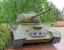 El tanque soviético T-34 Imagen de archivo libre de regalías