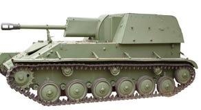 El tanque soviético viejo Imagen de archivo libre de regalías