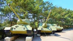 El tanque soviético de período de la Segunda Guerra Mundial Fotografía de archivo