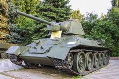 El tanque t-34 Foto de archivo libre de regalías