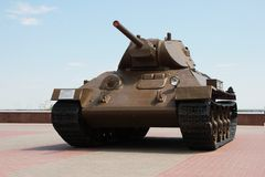 El tanque T-34 imagen de archivo