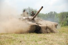 El tanque T-72 Imagen de archivo libre de regalías