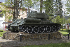 El tanque t-34 Imágenes de archivo libres de regalías