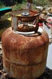 El tanque viejo oxidado Imagen de archivo