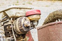 El tanque y silenciador de aceite Fotografía de archivo libre de regalías