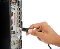 El tapar del USB Foto de archivo libre de regalías