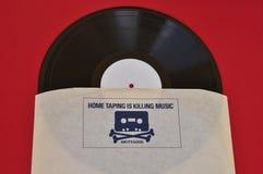 El taping casero está matando a música Foto de archivo
