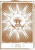 El Tarot Sun Fotos de archivo libres de regalías