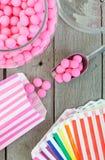 Invitaciones pasadas de moda del caramelo Imágenes de archivo libres de regalías