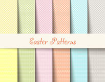El tartán de Pascua modela el ejemplo del vector Foto de archivo libre de regalías