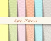 El tartán de Pascua modela el ejemplo del vector Fotografía de archivo