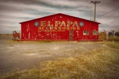 El tata Czerwony budynek Zdjęcie Stock