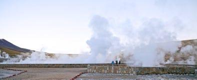 El Tatio喷泉,智利 免版税库存图片