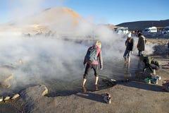 El Tatio喷泉,智利 免版税图库摄影
