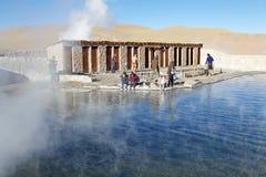 El Tatio喷泉,智利 库存图片