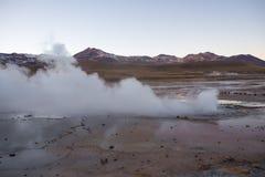 El Tatio gejzery blisko San Pedro De Atacama, Chile, - El Tatio jest obraz stock